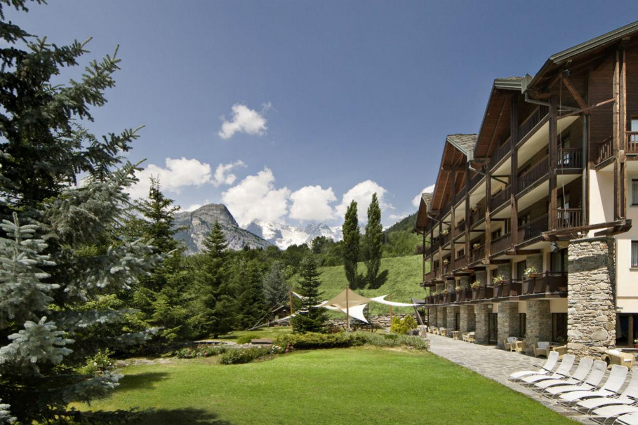 Il giardino del Pré Saint Didier Spa & Resort