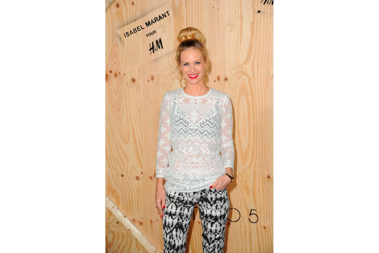 January Jones wearing Isabel Marant pour H&M