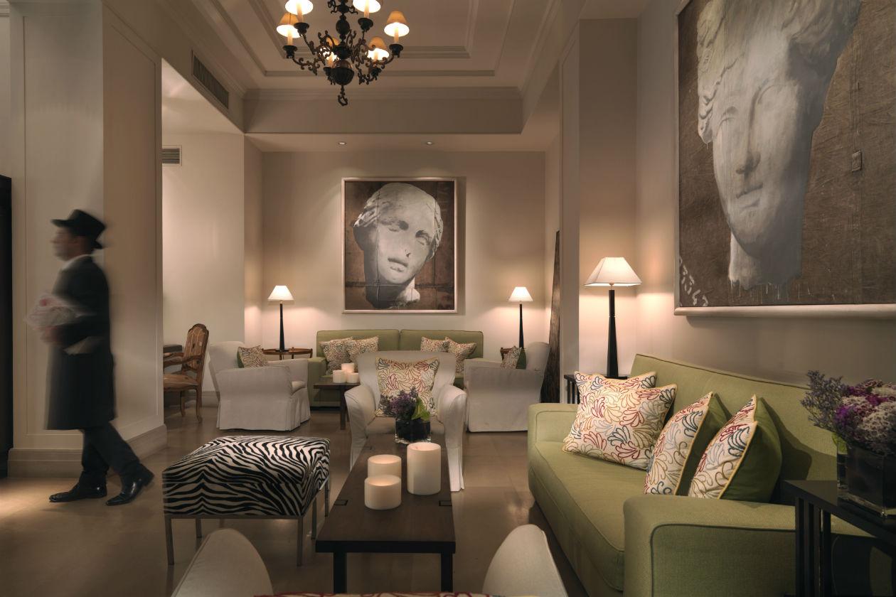 La lobby dell'Hotel Savoy a Firenze