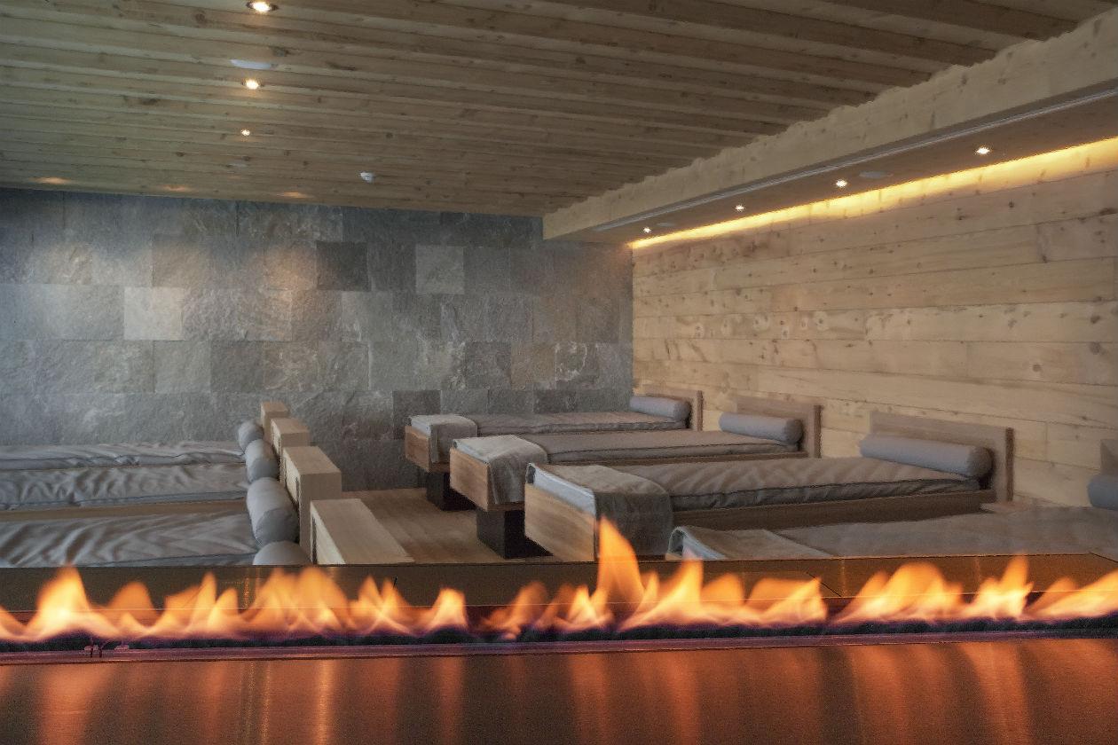 La stanza del relax presso la Spa del Kulm Hotel St.Moritz