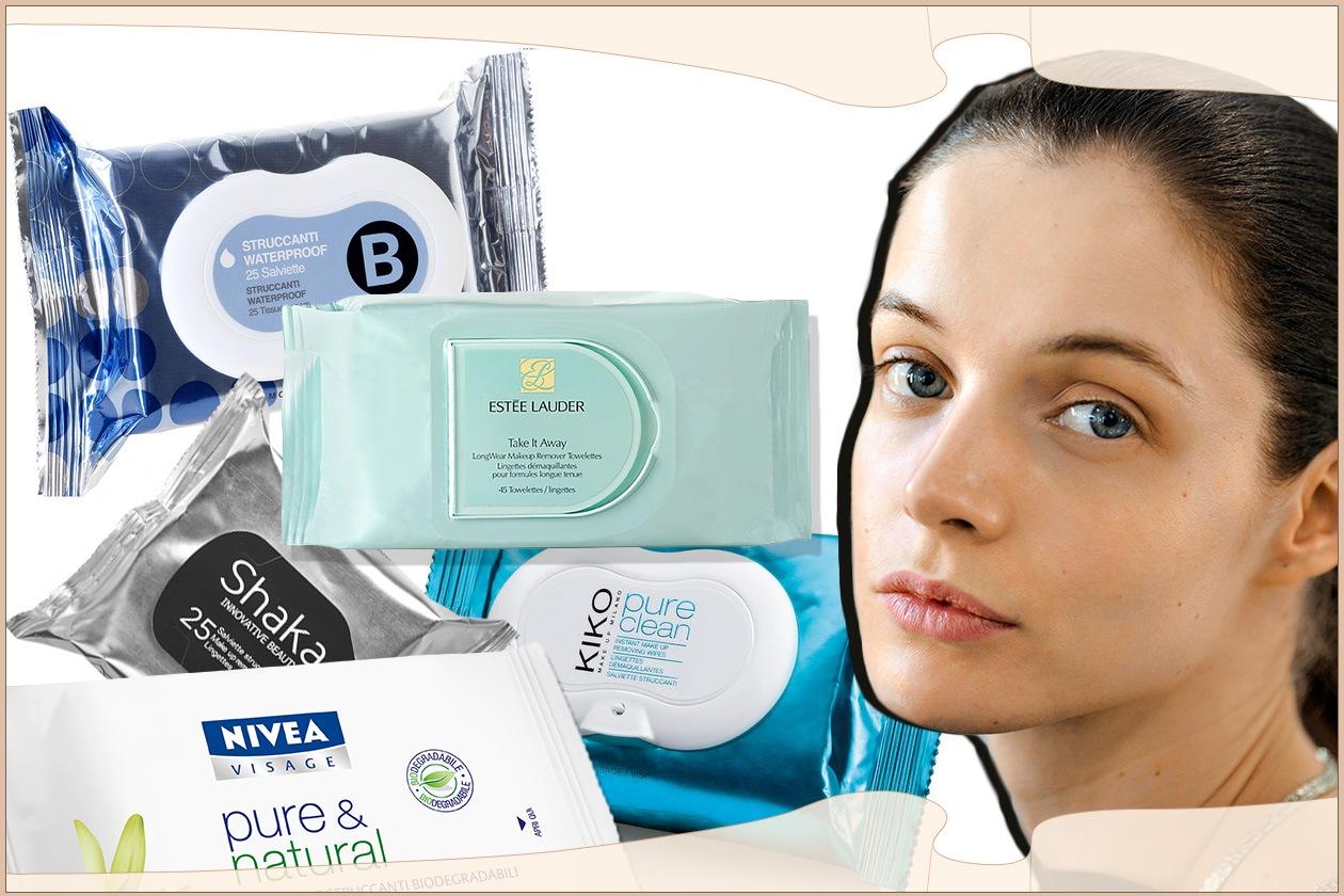 Salviette detergenti e struccanti: una soluzione facile e veloce per la detersione della pelle del viso
