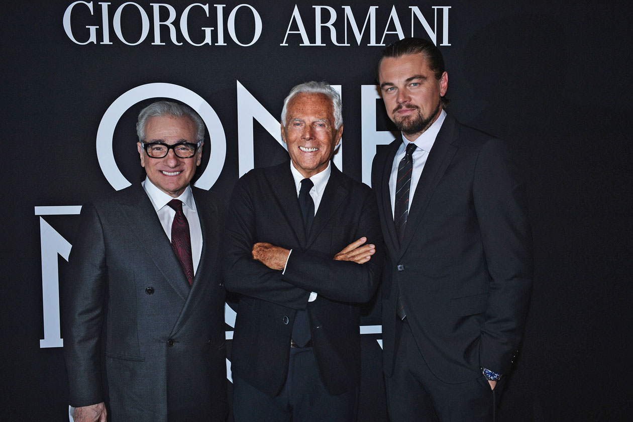 Mr. Armani, Leonardo Di Caprio and Martin Scorsese