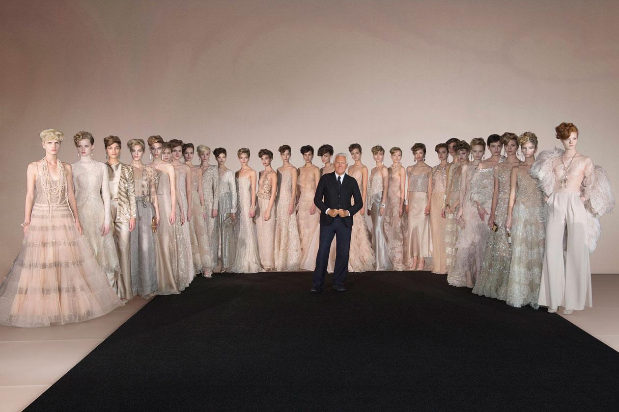 Mr. Armani and models