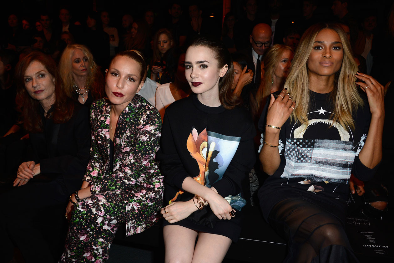 Isabelle Hupert; Ciara; Noomi Rapac; lily collins