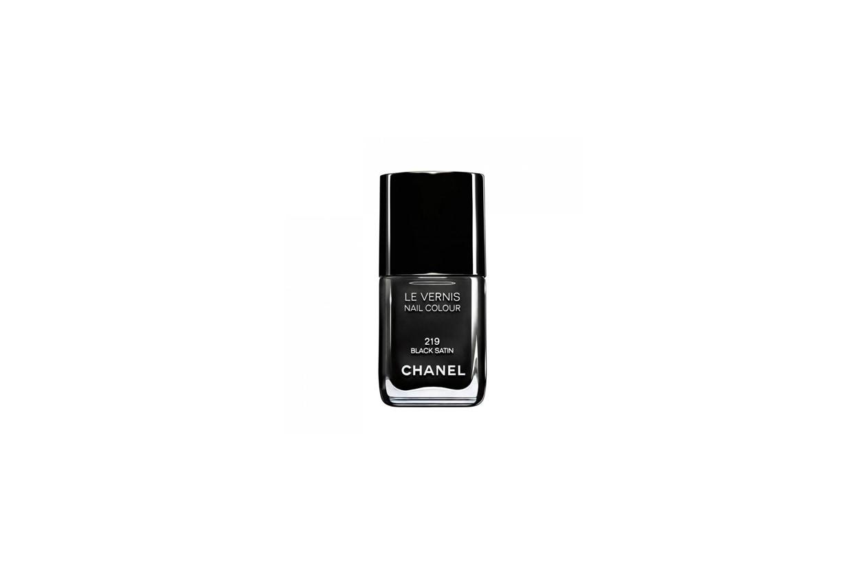 4 chanel black satin