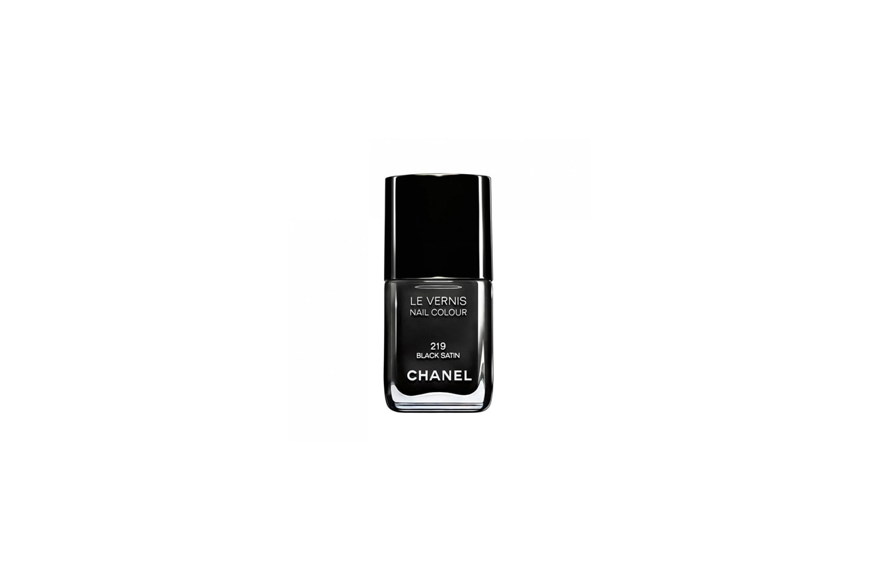 4 chanel black satin
