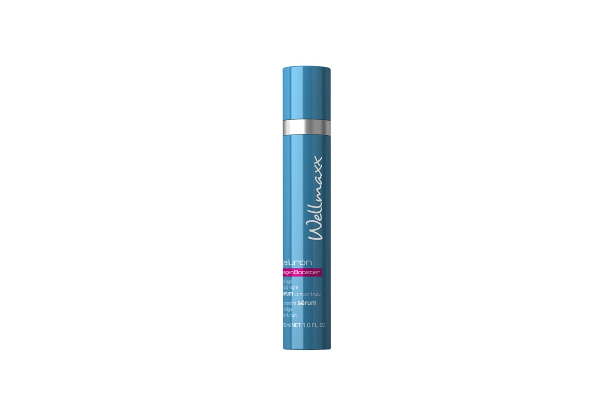 ALL'ACIDO IALURONICO: Wellmaxx Collagen booster anti-age day & night serum concentrate è un siero attivatore di collagene