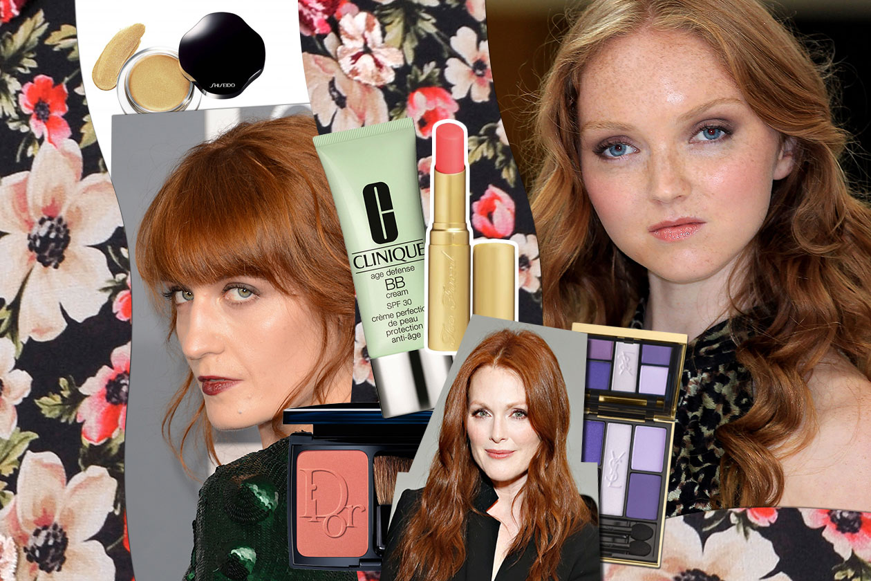 Beauty make up redhead Cover collage