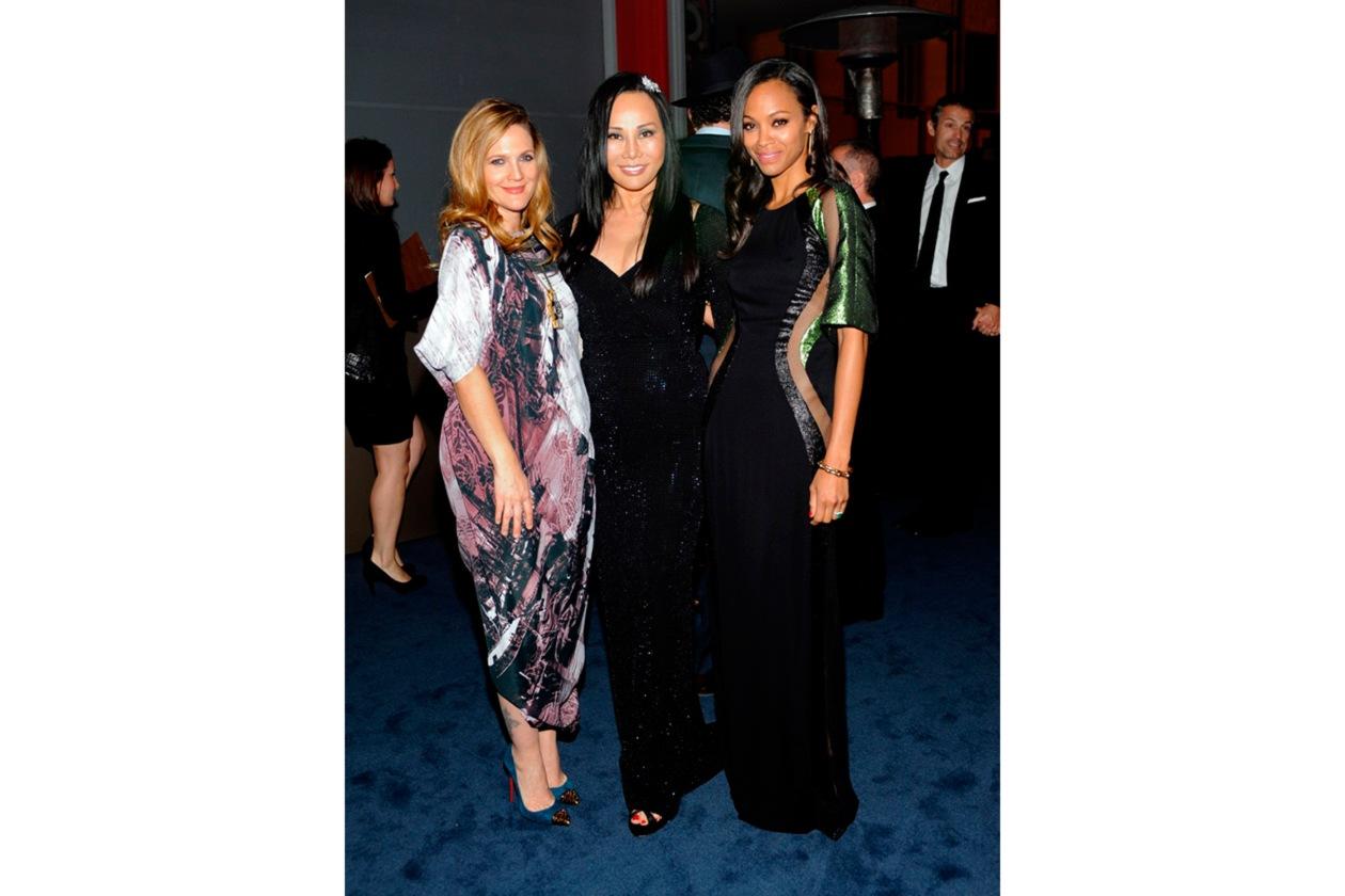 Drew Barrymore, Eva Chow, Zoe Saldana