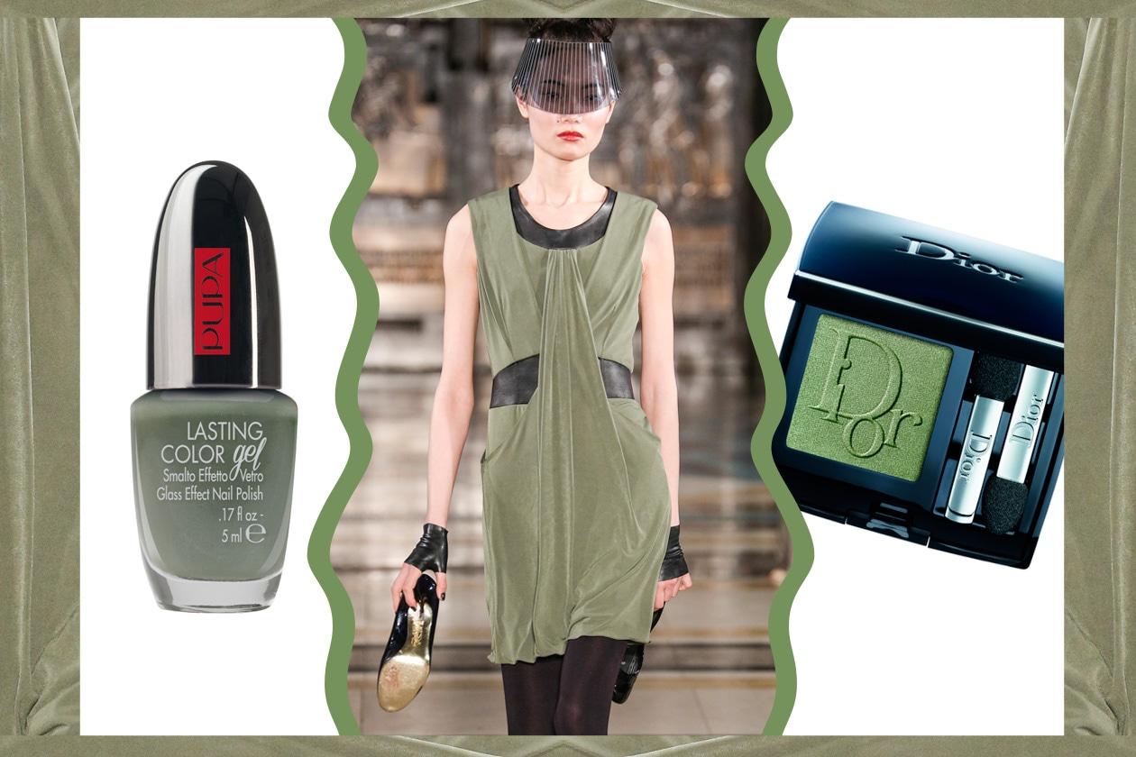 GREEN&BLACK: il verde è abbinato al nero (Ashley Isham – Dior – Pupa)