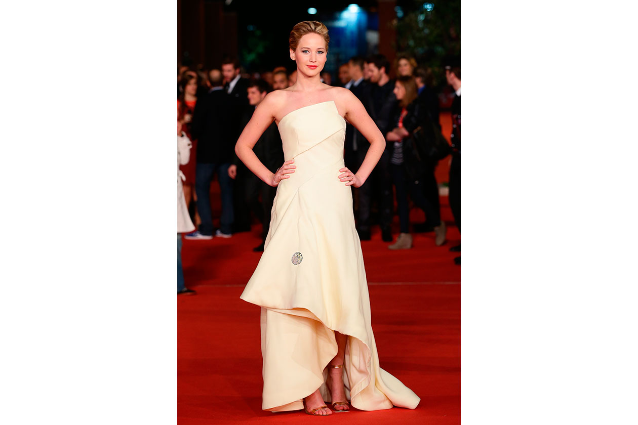Jennifer Lawrence in christian dior couture