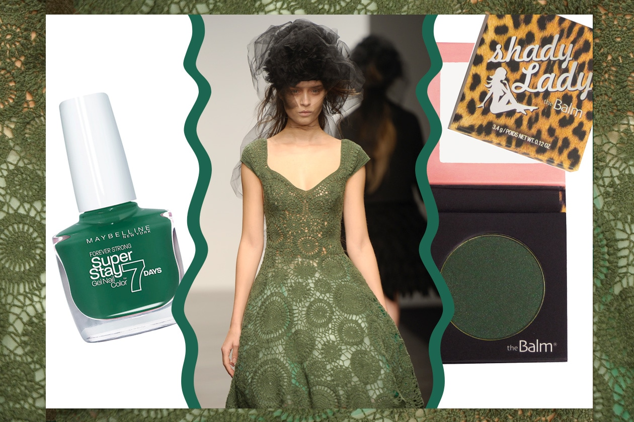 LADY LACE: il pizzo si fa verde (John Rocha – Maybelline New York – The Balm)