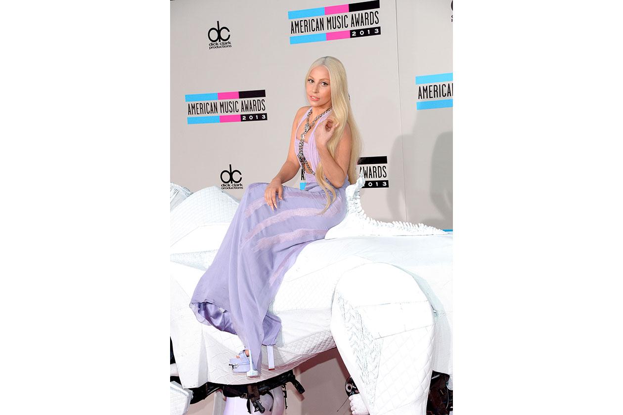 Lady Gaga in Versace Spring 2014