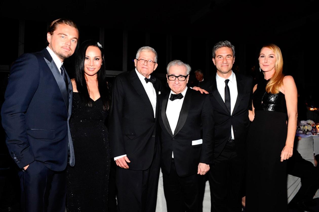 Leonardo DiCaprio, Eva Chow, David Hockney, Martin Scorsese, Michael Govan, Frida Giannini