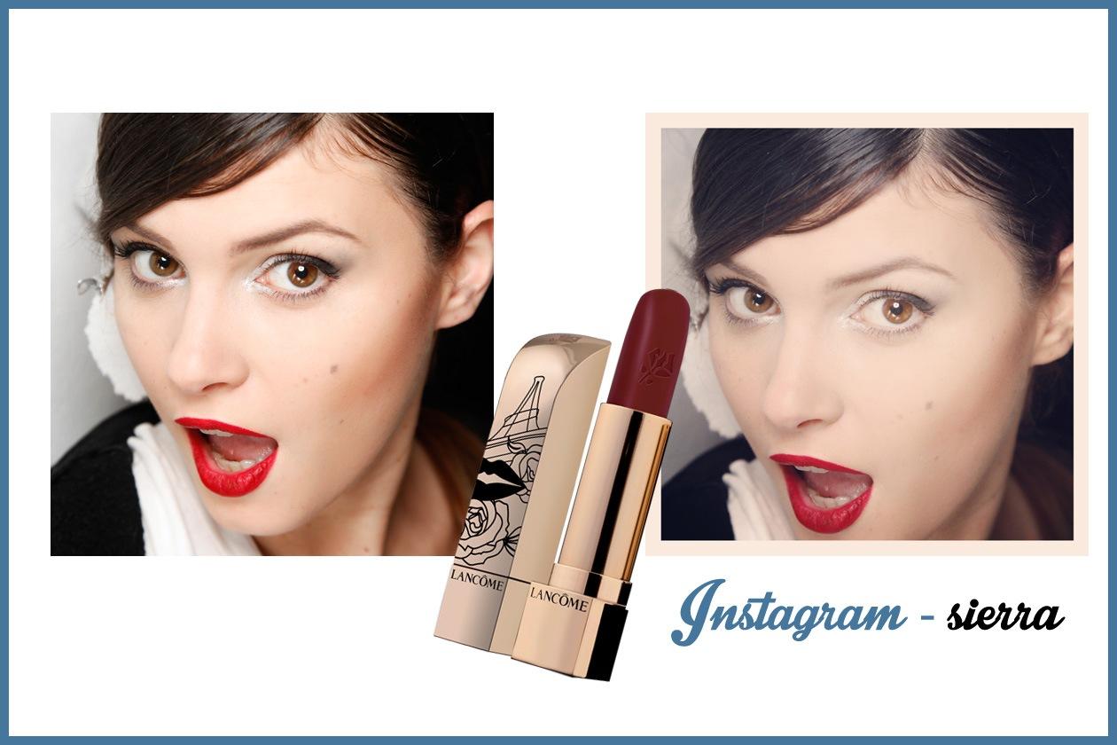 SIERRA – Consiglio: è perfetto se amate i rossetti pigmentati da pin up perché li esalta! (Lancôme)