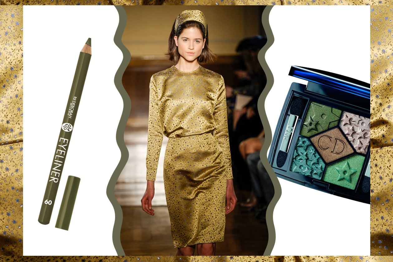 TOTAL LOOK: verde da capo a piedi (Andrea Incontri- Dior – Deborah Milano)