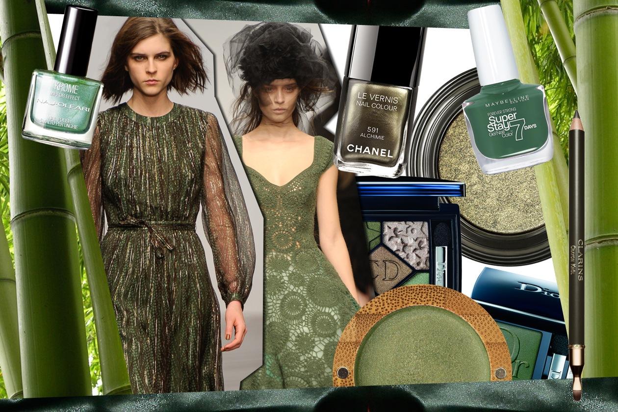 Verde sottobosco per il make up di stagione: a decretare la tendenza beauty&fashion dell'autunno 2013 è Pantone®. La selezione di Grazia.IT