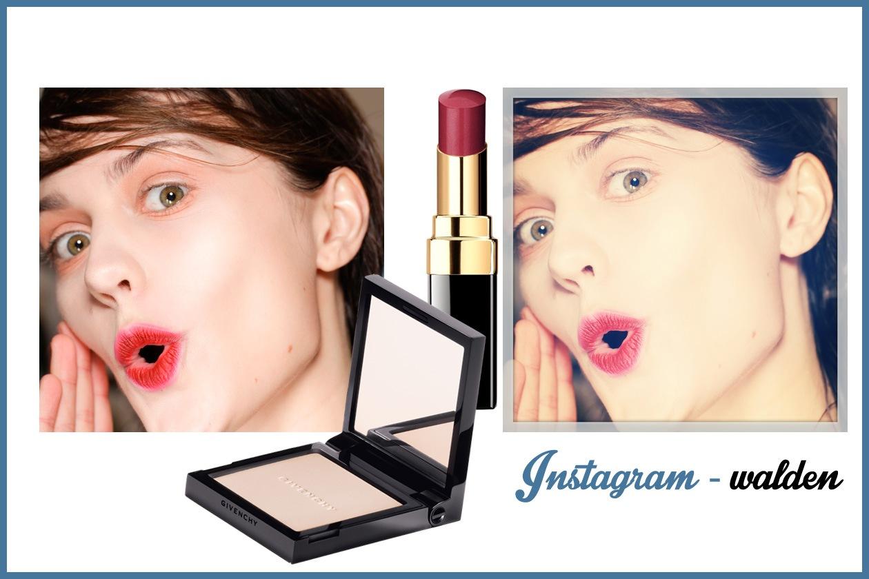 WALDEN – Consiglio: se avete esagerato con le quantità nel make up, il filtro sfuma i colori (Givenchy – Chanel)