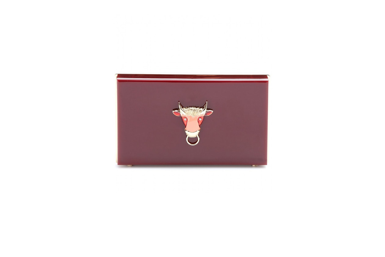 FASHION November Red clutch charlotte olympia