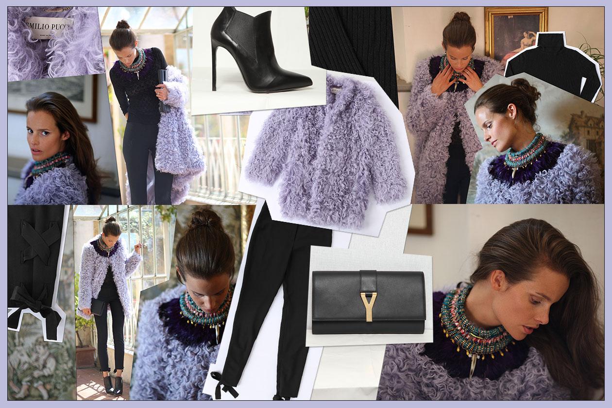 Shop the look: Charlotte Collard in lilla