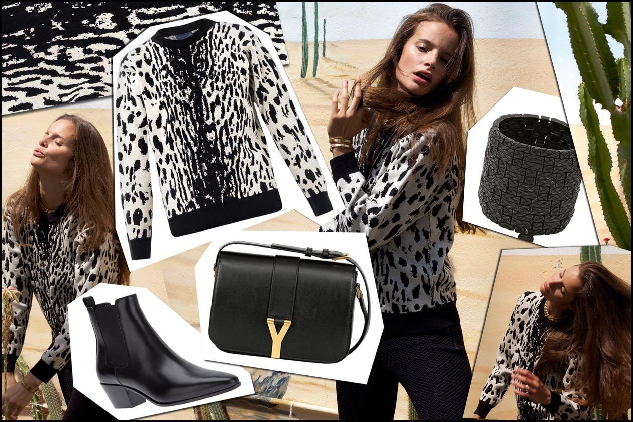 Shop the look: Charlotte Collard in animalier