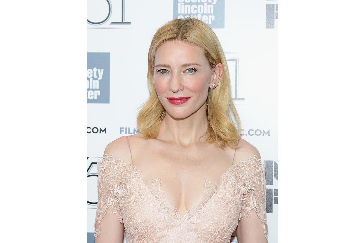 Cate Blanchett: un trucco nude con ciglia extra long