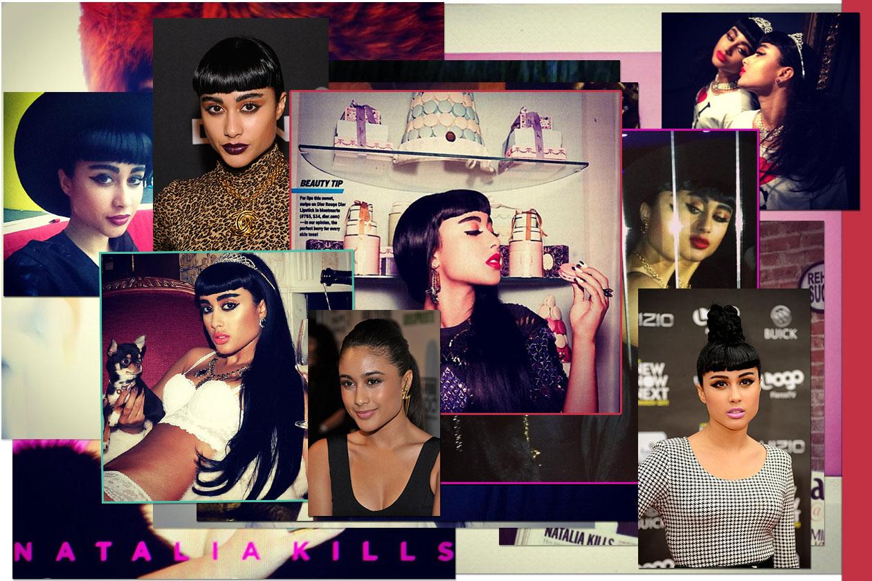 Dall'eyeliner al rossetto dark o pink: i migliori beauty look di Natalia Kills secondo Grazia.IT