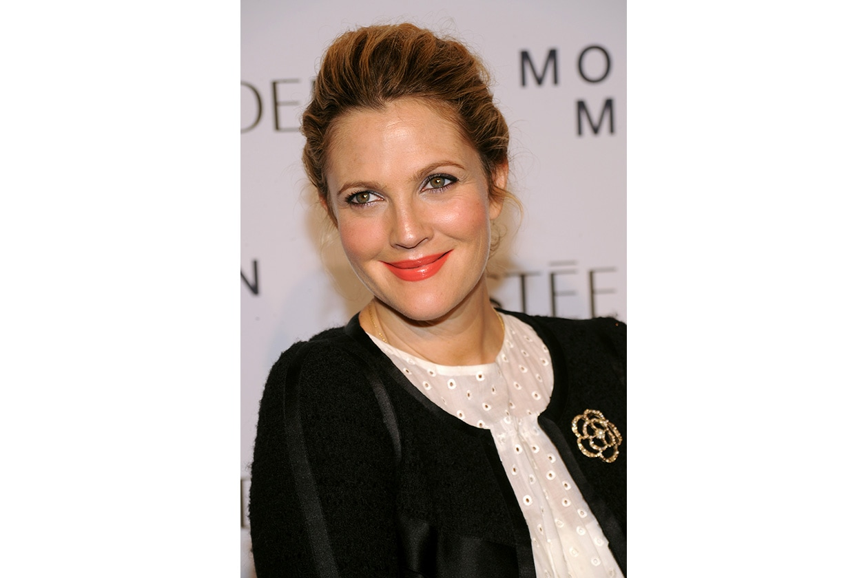 Drew Barrymore: un make up very shimmer