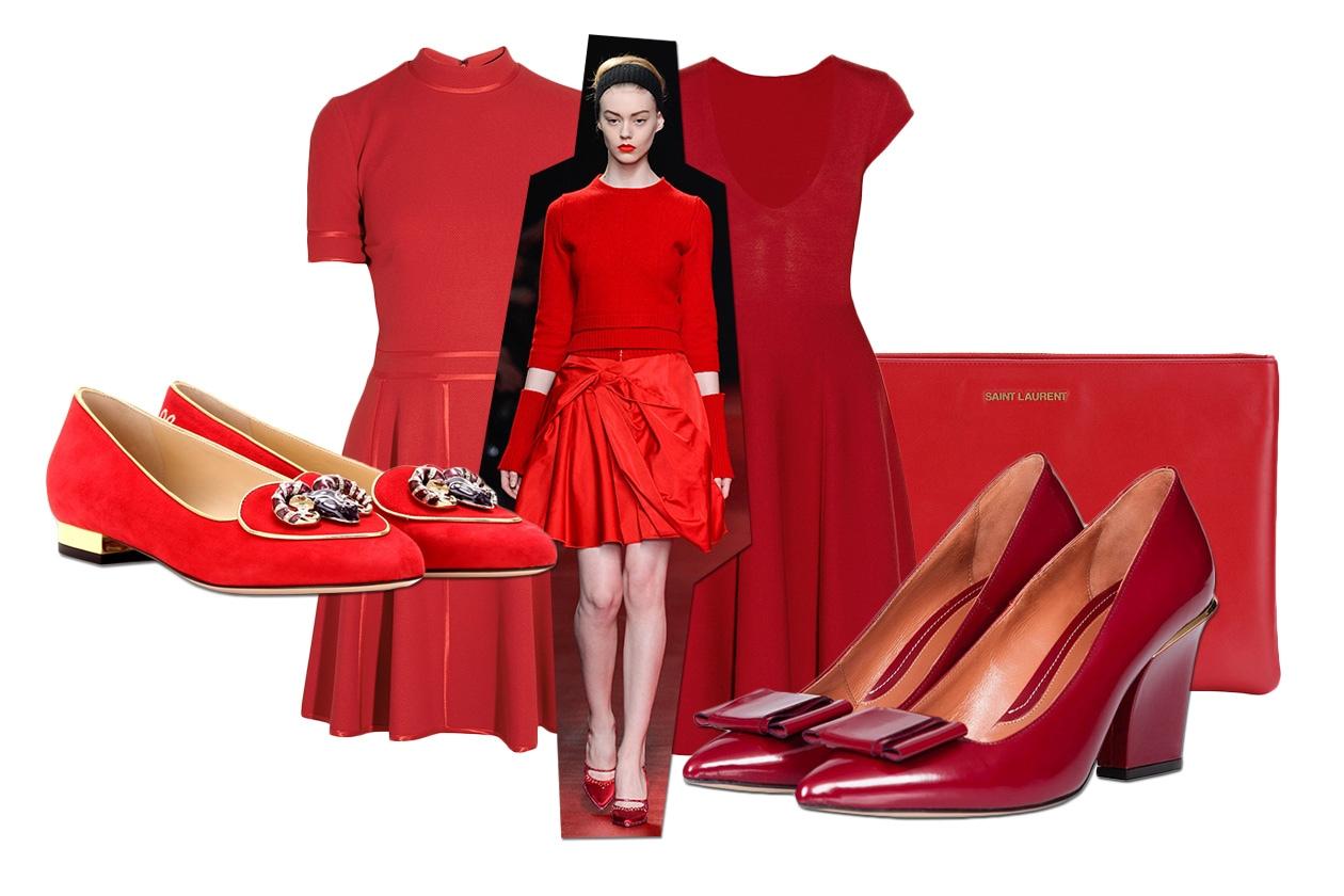 Fashion 6 look per Capodanno 00 Cover Collage Total Red