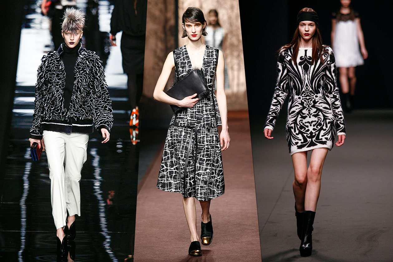 Fashion Bianco e Nero Byblos Fendi Marni