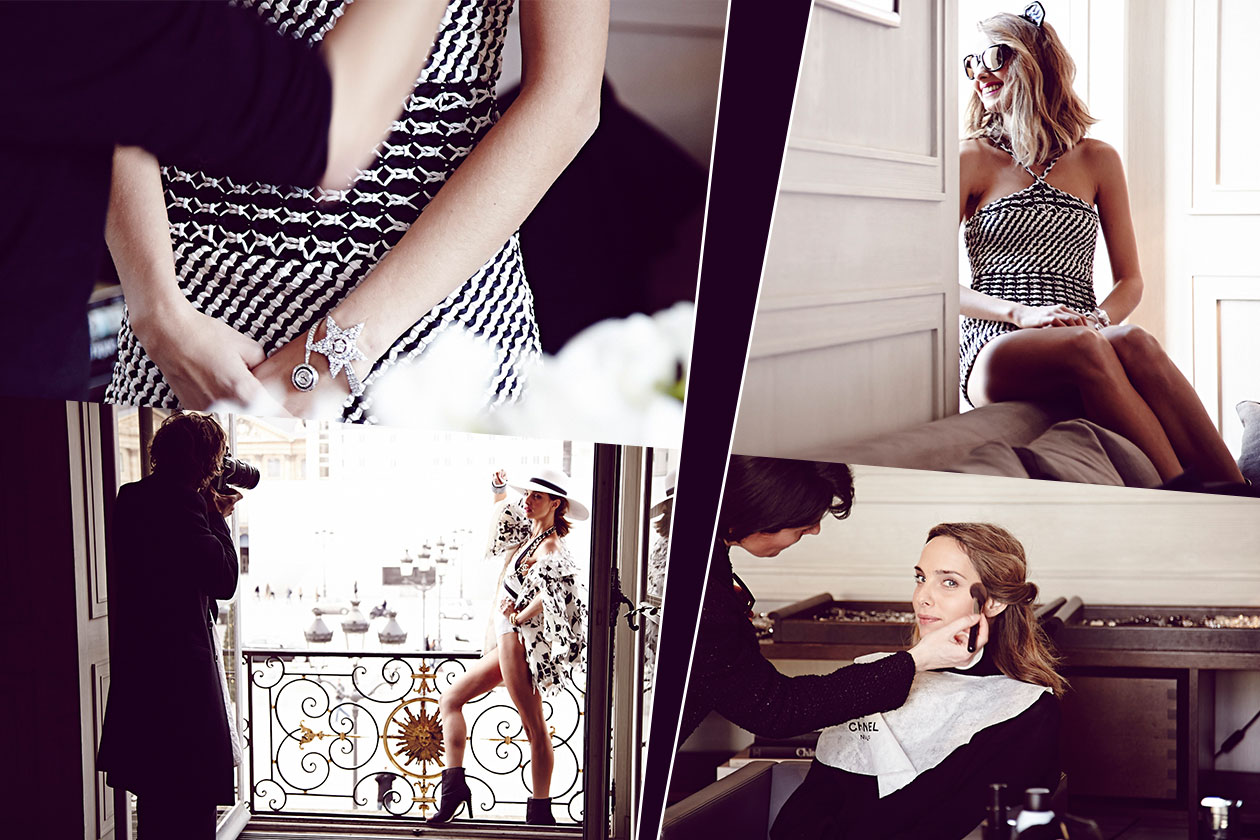 Fashion Chanel Cover collage