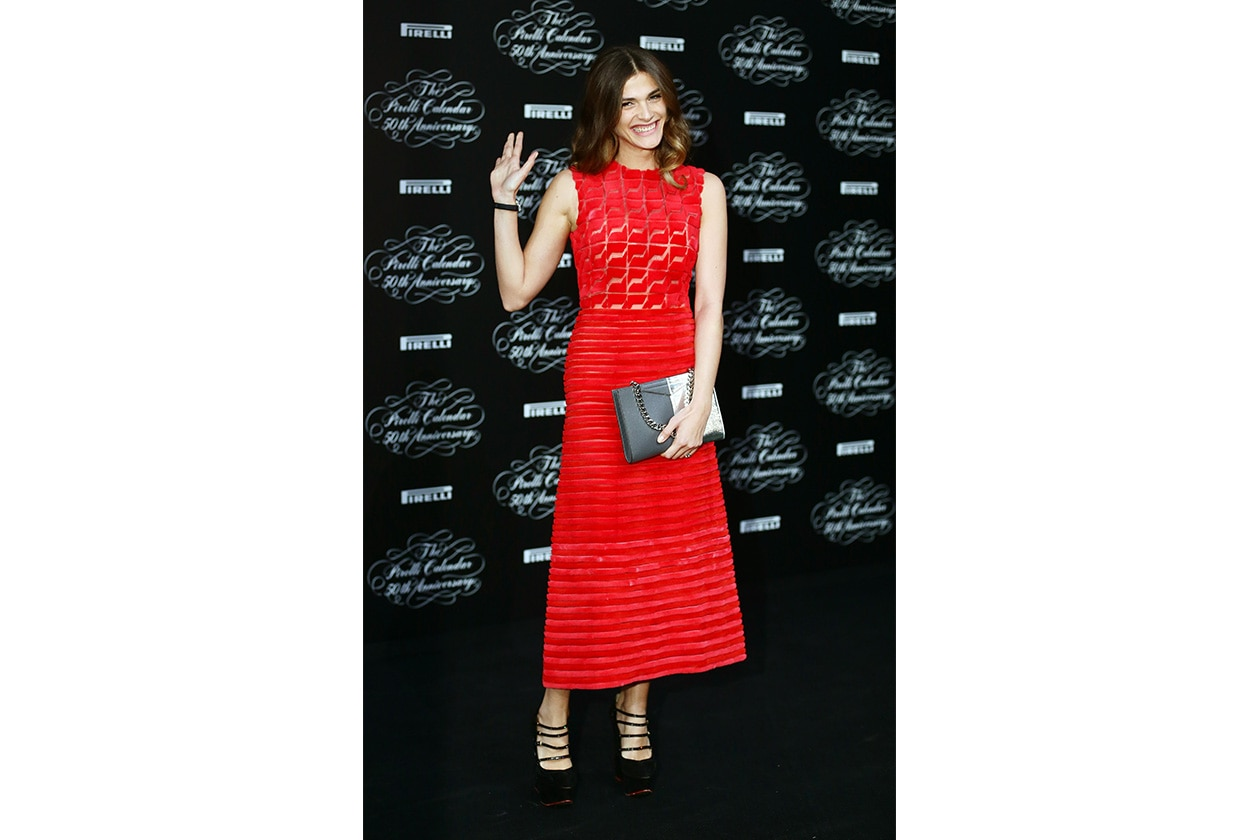 Fashion Just a red dress FENDI for Elisa Sednaoui