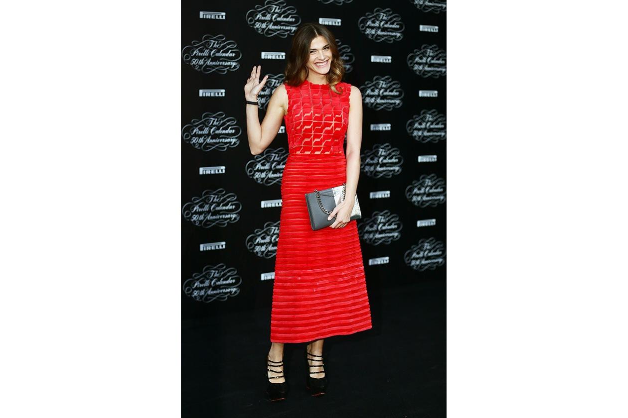 Fashion Just a red dress FENDI for Elisa Sednaoui