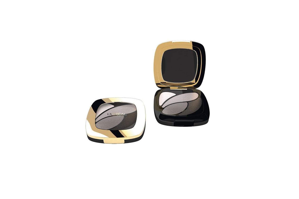 Gli ombretti della palette Color Riche Eyeshadow E5 Velours Noir di L'Oreal Paris sono iperpigmentati
