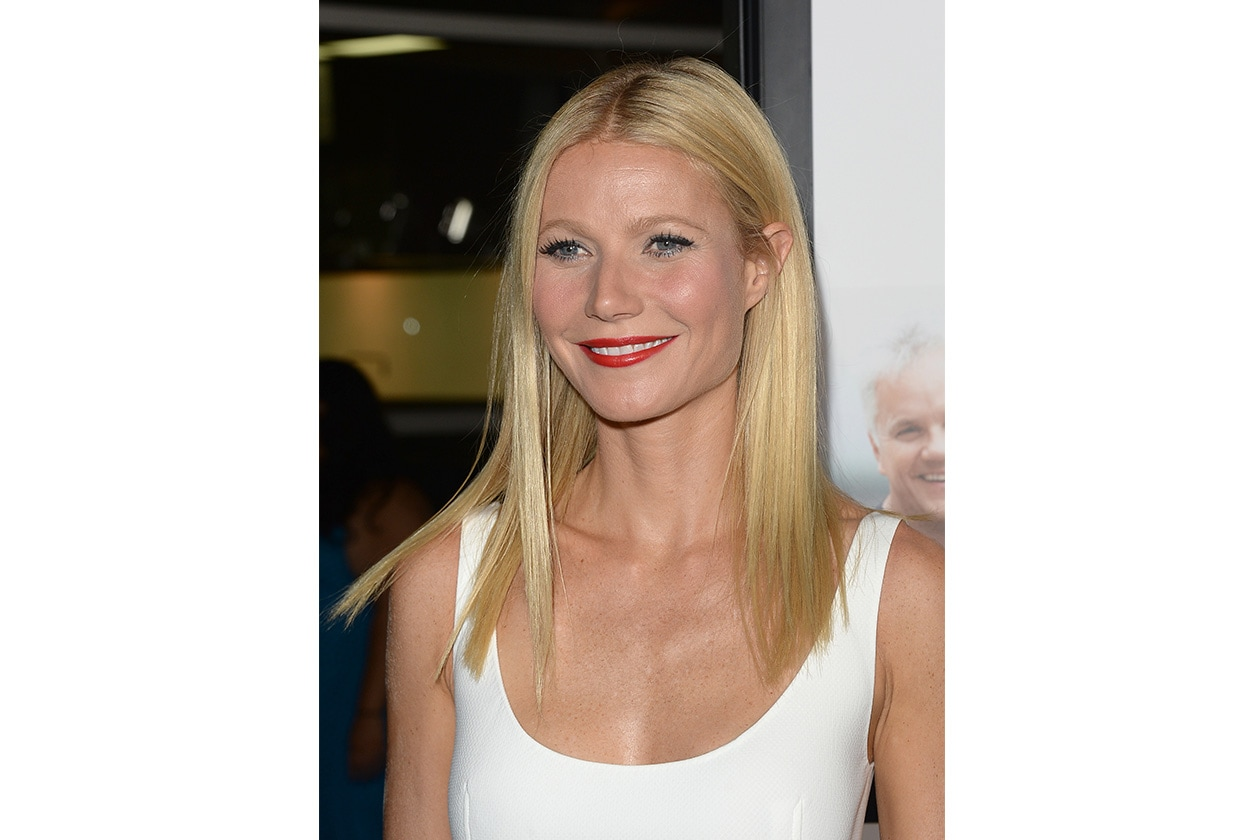 Gwyneth Paltrow: il trucco classico con labbra rosse e sguardo in evidenza