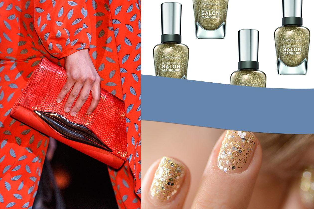 LUCI D'ORO: gli accessori si accendono con glitter e paillettes (Anna Sui – Diane Von Furstenberg – Sally Hansen