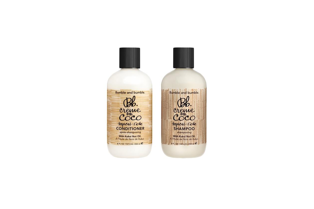 Pensati per gli amanti del cocco lo Shampoo e il Conditioner idratante Creme de Coco di Bumble and Bumble