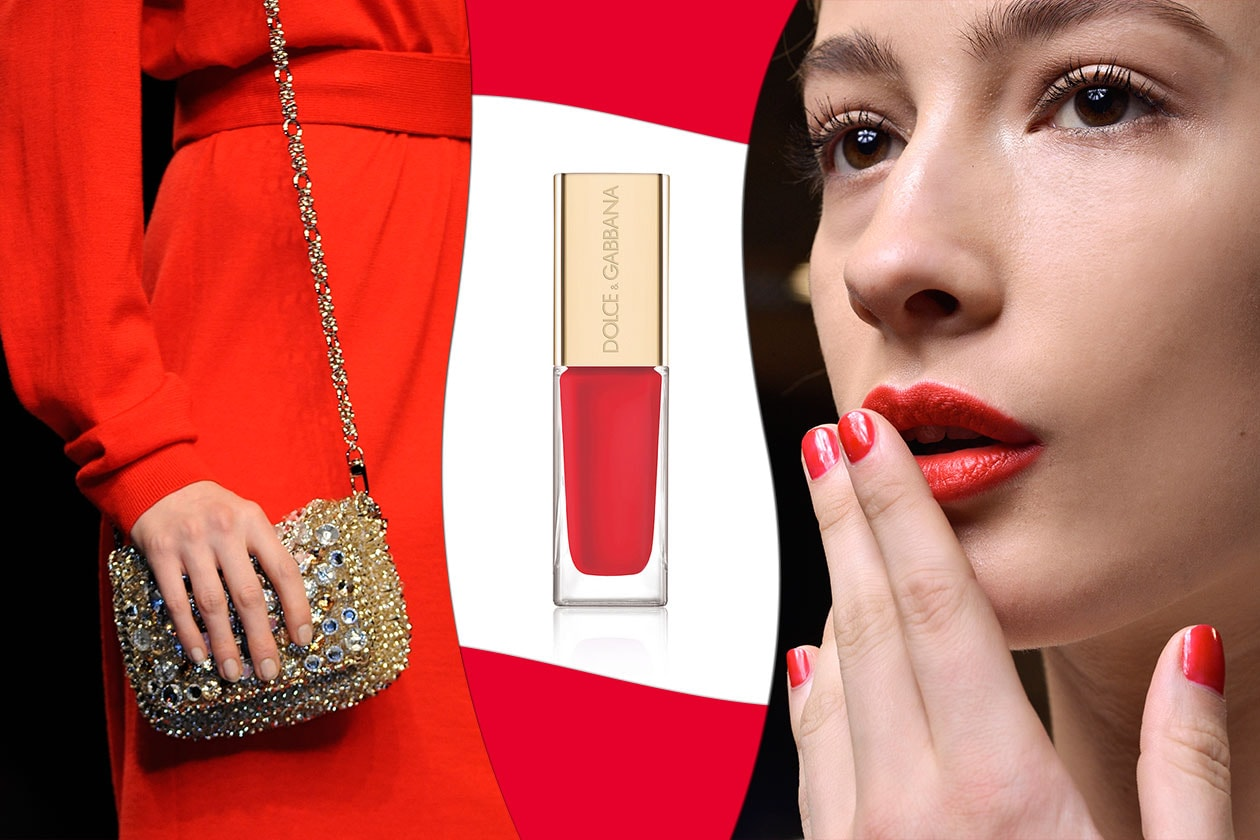 ROSSO DOMINANTE: oro, argento e pietre per gli accessori. Rosso per il beauty look (Anteprima – Roccobarocco – Dolce&Gabbana)