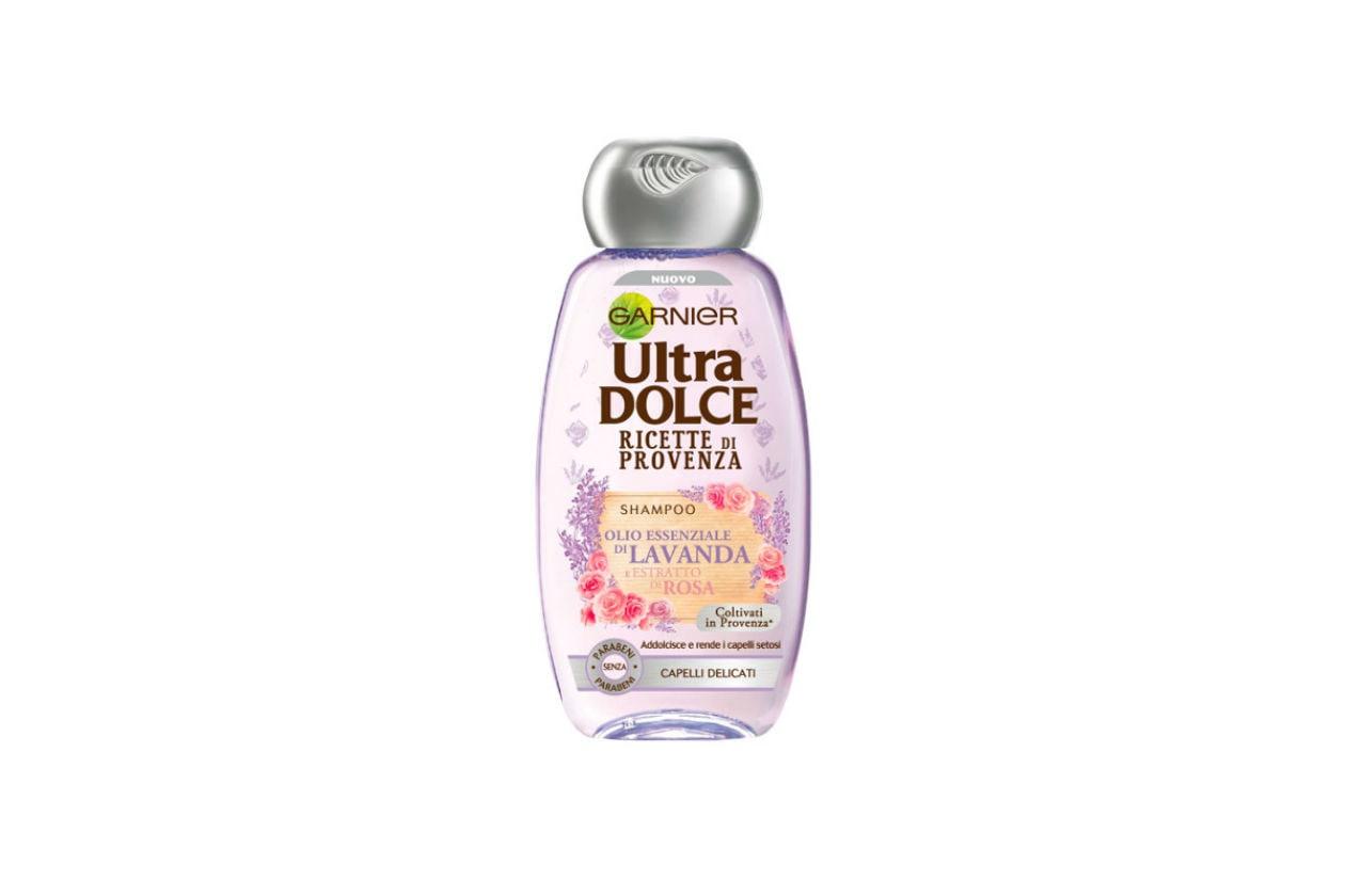 Se preferite i profumi floreali della Provenze, scegliete lo Shampoo Ultra Dolce Ricette di Provenza di Garnier