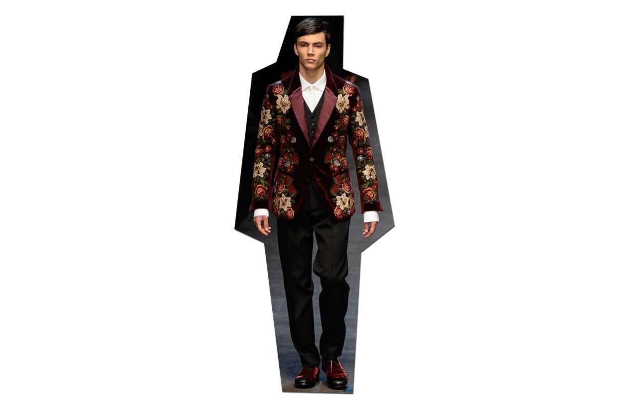 FASHION Look festivo Day & Night 011 NIGHT Dolce e Gabbana ful M F13 S13 195