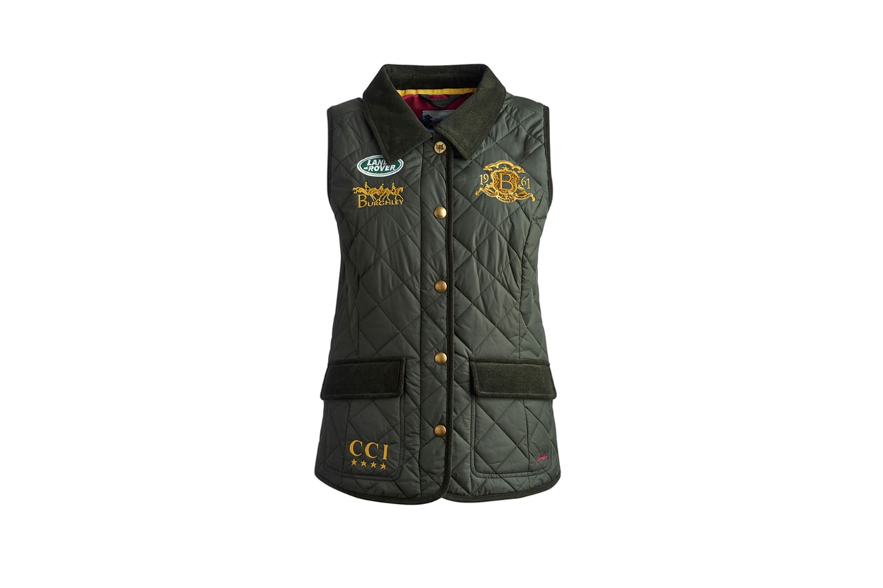 BURGHLEY GILET DKOLIVE on joules