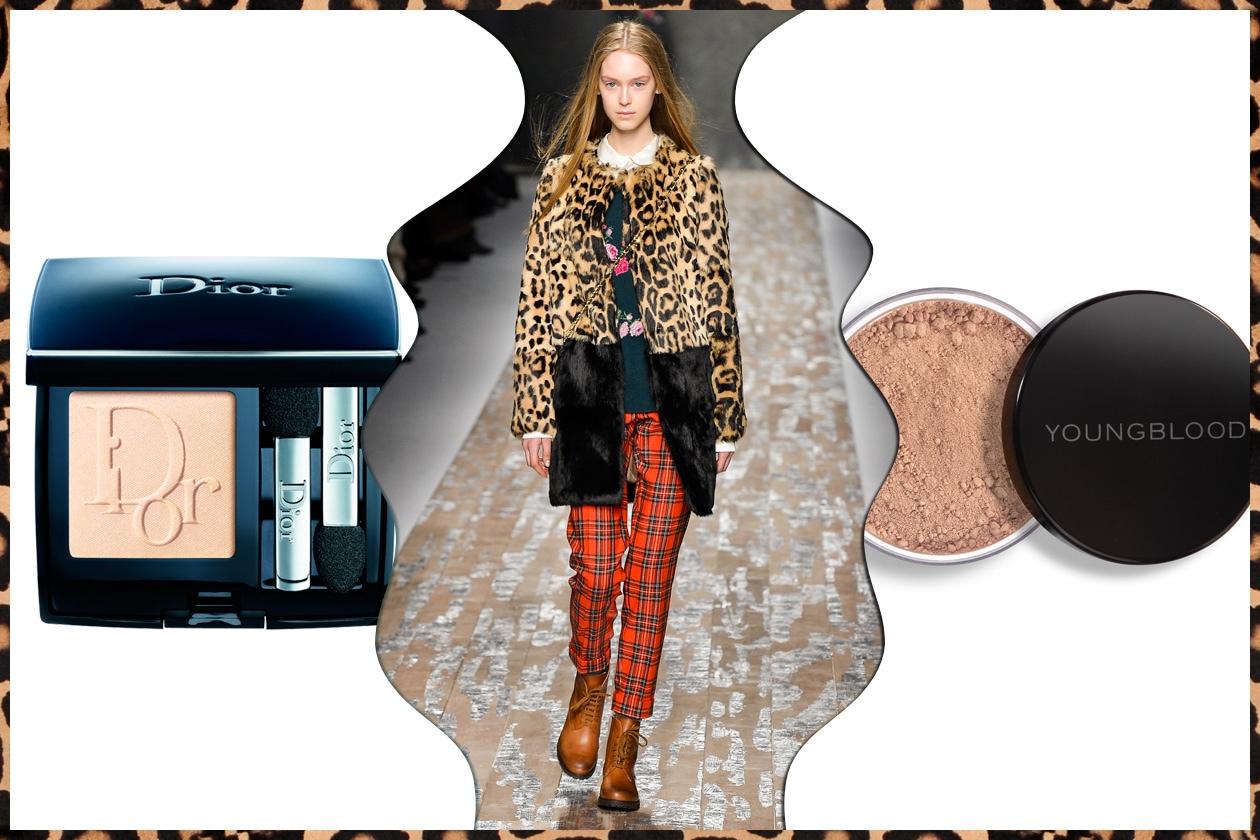 DEDICATO ALLE RAGAZZE: maculato e tartan.Colori chiari all'insegna dell'understatement per il make up (Blugirl – Dior – Youngblood)