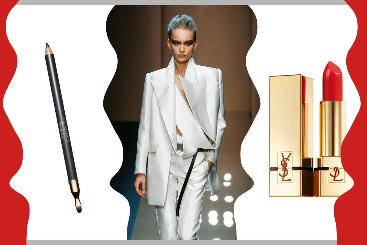DONNE IN CARRIERA: beauty look e outfit dal carattere deciso (Gianfranco Ferré – Yves Saint Laurent – Clarins)