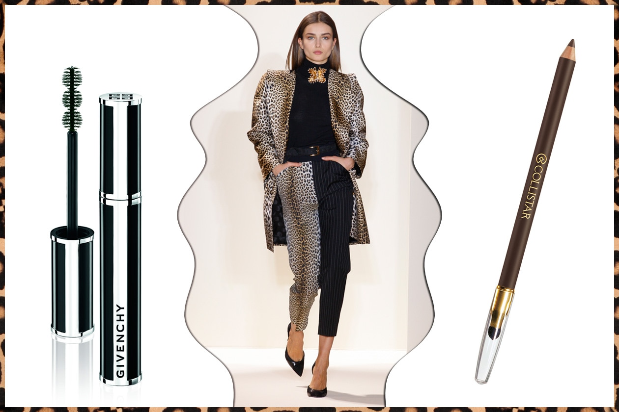 … E IN NERO: black&animalier (Emanuel Ungaro  – Givenchy  – Collistar)