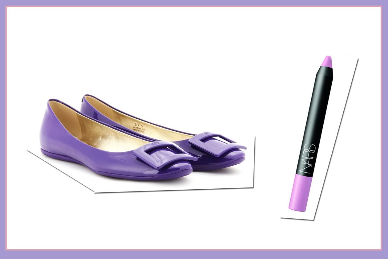 Facili soluzioni: le ballerine di Roger Vivier e la matita Labbra Velluto Mat in Romance Holiday di Nars