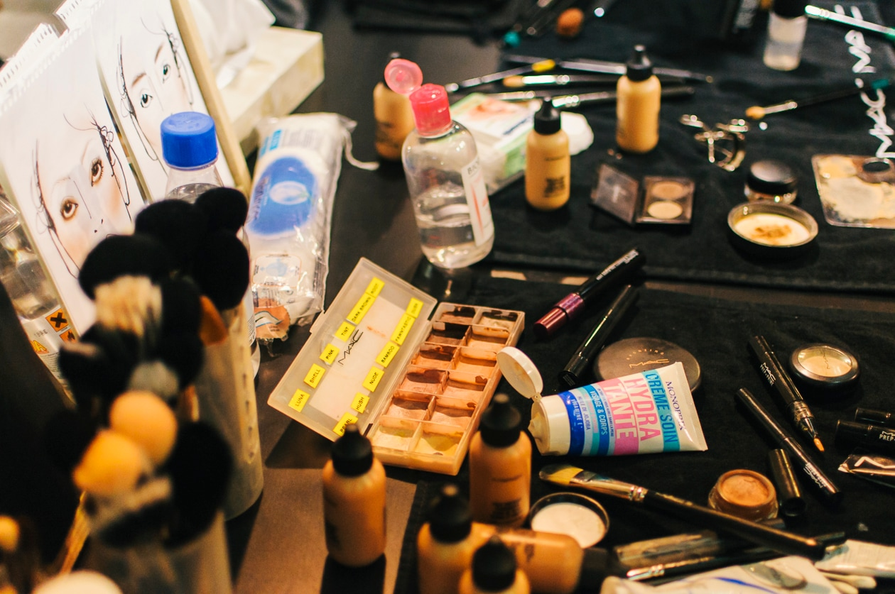 I prodotti make up usati per MSGM