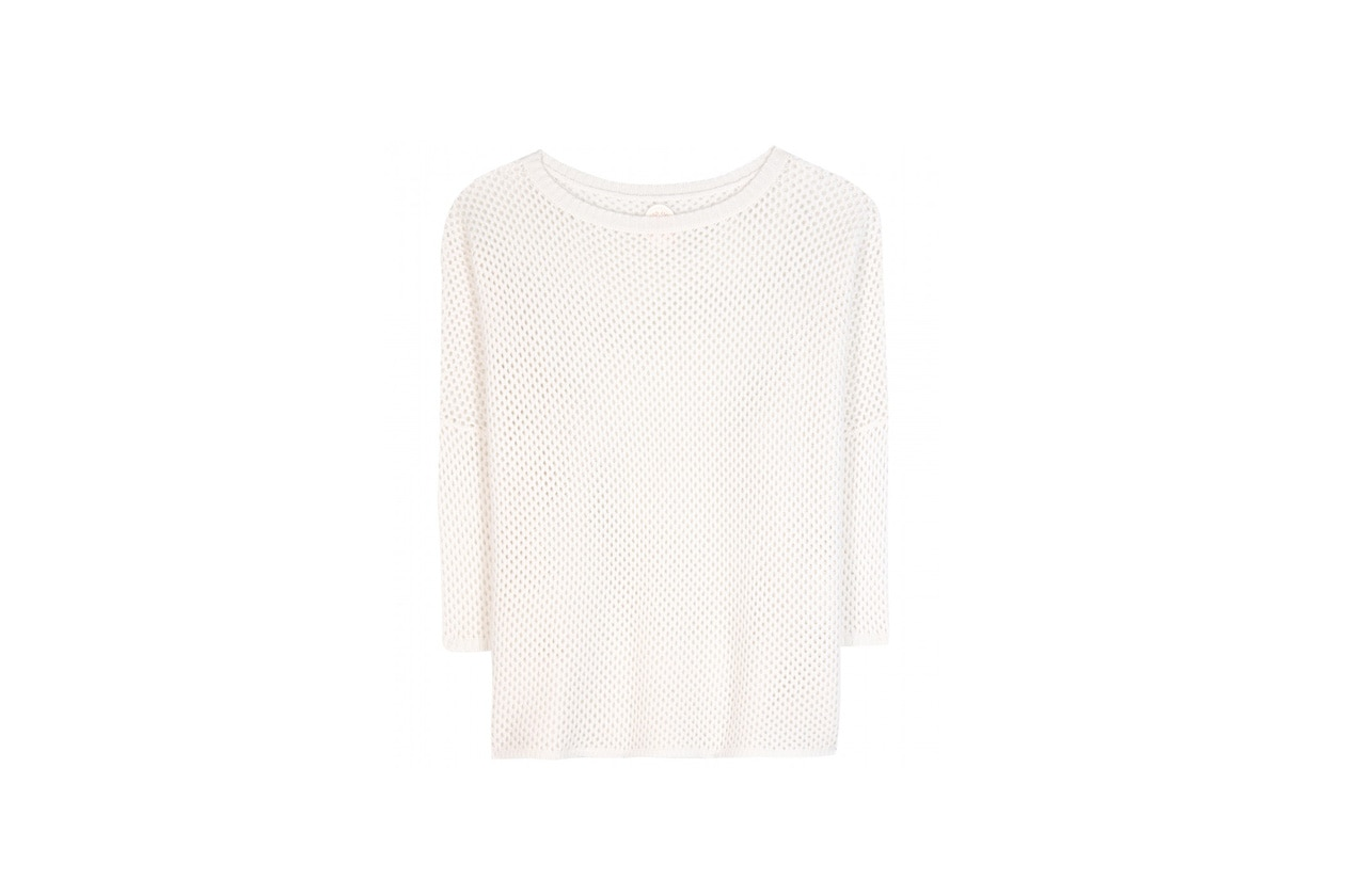 P00087695 Open knit cashmere sweater STANDARD