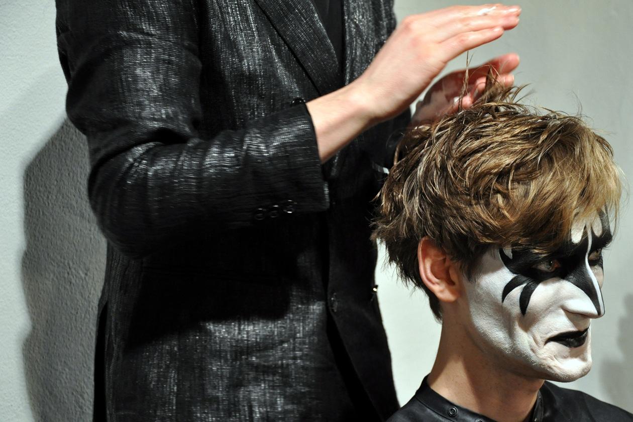 L'ispirazione make up arriva dai Kiss, special guest della sfilata
