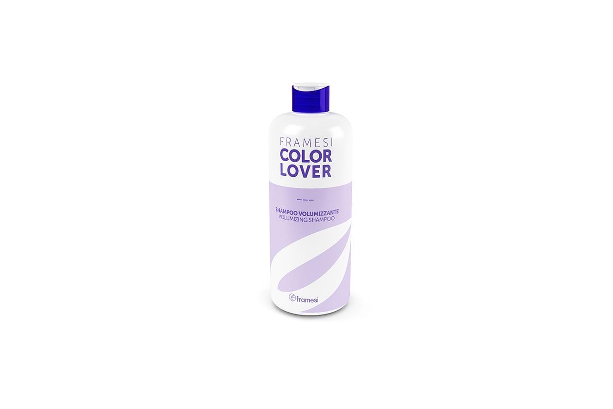 Lo Shampoo Volumizzante Color Lover di Framesi  è ideale su capelli fini