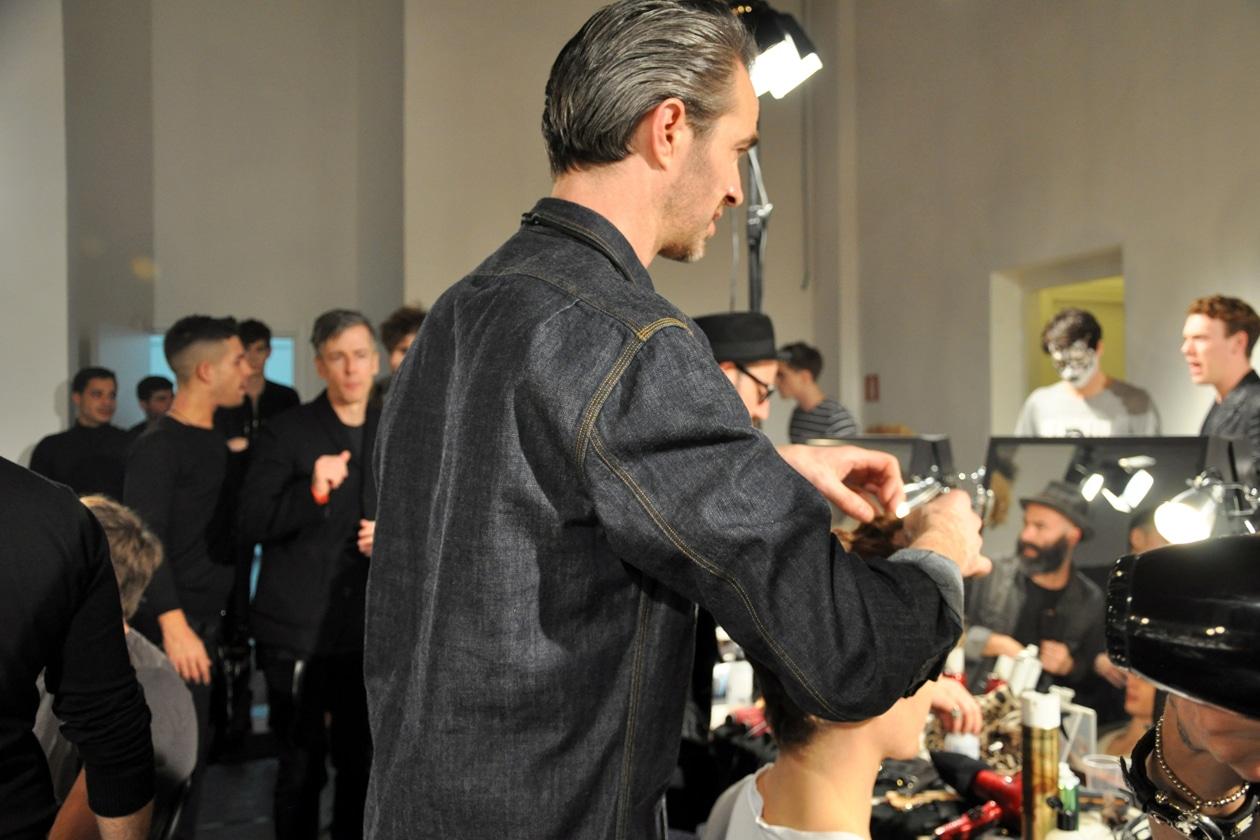 Matt Mulhall for Streeters Uk ha curato l'hair styling della sfilata